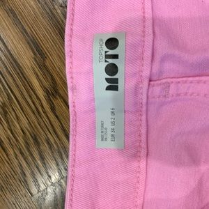 Topshop Skirts - Topshop neon denim mini skirt
